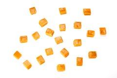 Caramel. Candy square shape image isolated on a white background Stock Photo