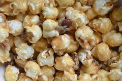 Caramel Almond Popcorn. Close up royalty free stock images