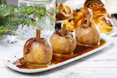 Caramel apple, christmas eve Royalty Free Stock Images