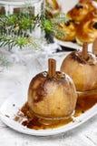 Caramel apple, christmas eve Royalty Free Stock Photos