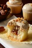 Caramel apple cupcake Royalty Free Stock Photo