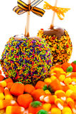 Caramel apple Stock Image