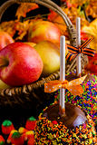 Caramel apple Royalty Free Stock Images