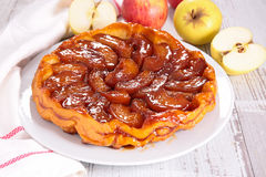 Caramel apple pie Royalty Free Stock Images