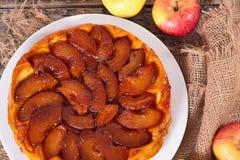 Caramel apple pie Stock Image