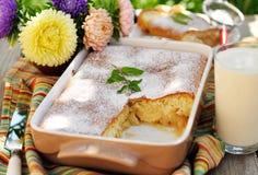 Caramel Apple Sponge Bake (Pudding) Royalty Free Stock Photos