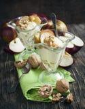 Caramel apple sundae Royalty Free Stock Images