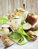 Caramel apple sundae Stock Photo