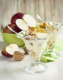 Caramel apple sundae Stock Image