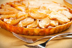 Caramel Apple Tart Stock Photography