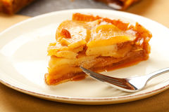 Caramel Apple Tart Slice Stock Images