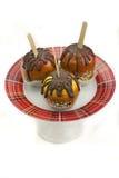 Caramel apples Stock Image