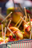 Caramel apples Stock Photos