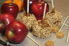 Caramel apples royalty free stock photos