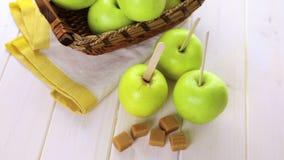 Caramel Apples stock video footage