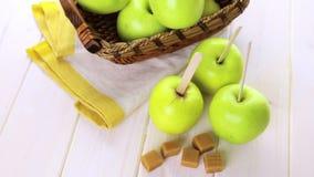 Caramel Apples stock footage