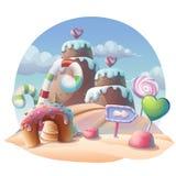 Caramel background vector illustration Stock Image
