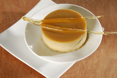 Caramel blancmange Royalty Free Stock Images