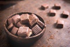 Caramel bonbons Stock Photos