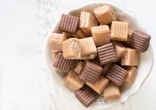 Caramel bonbons mix Royalty Free Stock Photography
