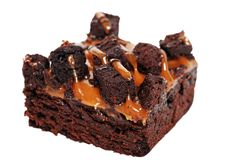 Caramel brownie isolated Stock Photography