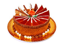 Caramel cake Stock Images