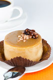Caramel cake close up Royalty Free Stock Photography