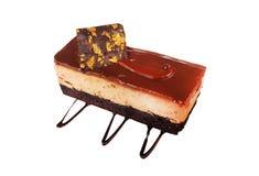Caramel cake, mousse dessert Stock Image