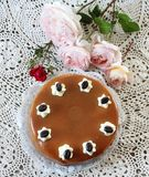Caramel-cake Royalty Free Stock Photography