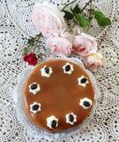 Caramel-cake royalty free stock photography