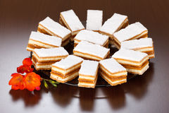 Caramel cakes Stock Photo