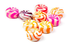 Caramel candies close-up isolated Royalty Free Stock Photos