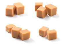 Caramel candies on white Royalty Free Stock Images