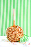 Caramel candy apple Stock Image