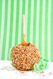 Caramel candy apple Stock Image