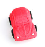 Caramel Car. Toy car of caramel, isolated on a white background Stock Images