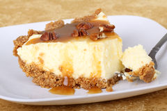 Caramel Cheesecake Royalty Free Stock Photos