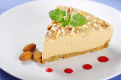 Caramel cheesecake Royalty Free Stock Images