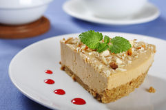 Caramel cheesecake Stock Photography