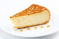 Caramel cheesecake Stock Images