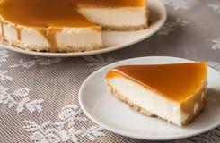 Caramel cheesecake Royalty Free Stock Image