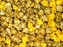 Caramel an chesses Popcorn closeup. /Popcorn Royalty Free Stock Images