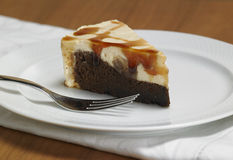 Caramel chocolate cake Stock Photos