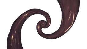 Caramel chocolate paint leak surreal spiral slow motion animation background new quality motion graphics retro vintage. Paint leak surreal spiral slow motion royalty free illustration