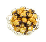 Caramel chocolate popcorn in bowl Royalty Free Stock Image