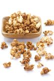 Caramel chocolate popcorn stock photo