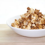Caramel chocolate popcorn Stock Photo