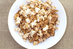 Caramel chocolate popcorn Royalty Free Stock Images