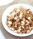 Caramel chocolate popcorn Royalty Free Stock Photos