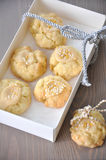 Caramel Christmas Cookies. In a box royalty free stock images